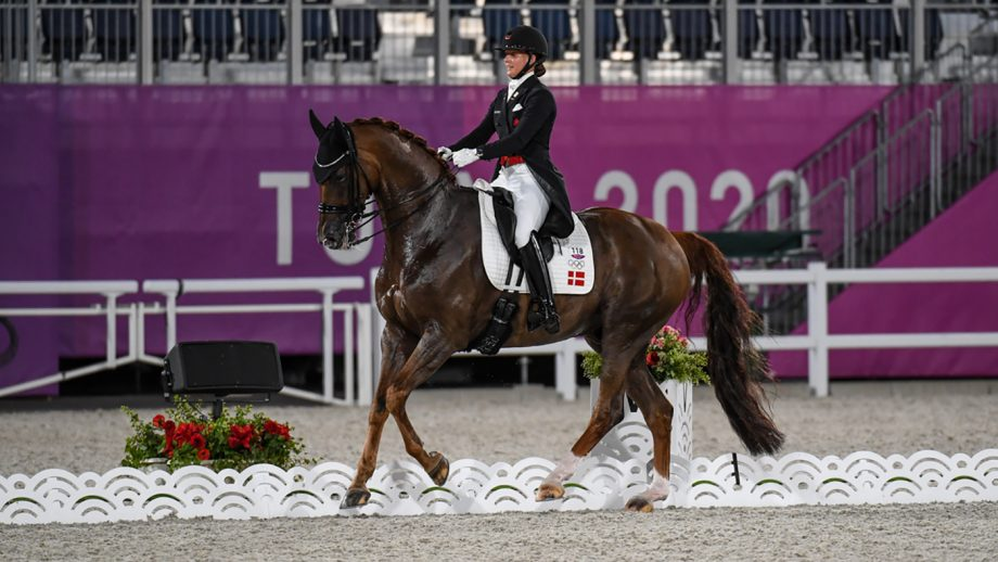 Olympic dressage freestyle: Cathrine Dufour riding Bohemian in the Tokyo Olympics
