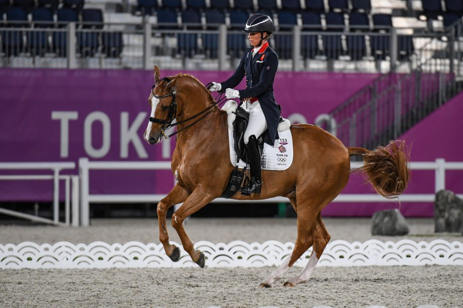 Charlotte Dujardin and Gio on their way helping the British team qualify for the grand prix special