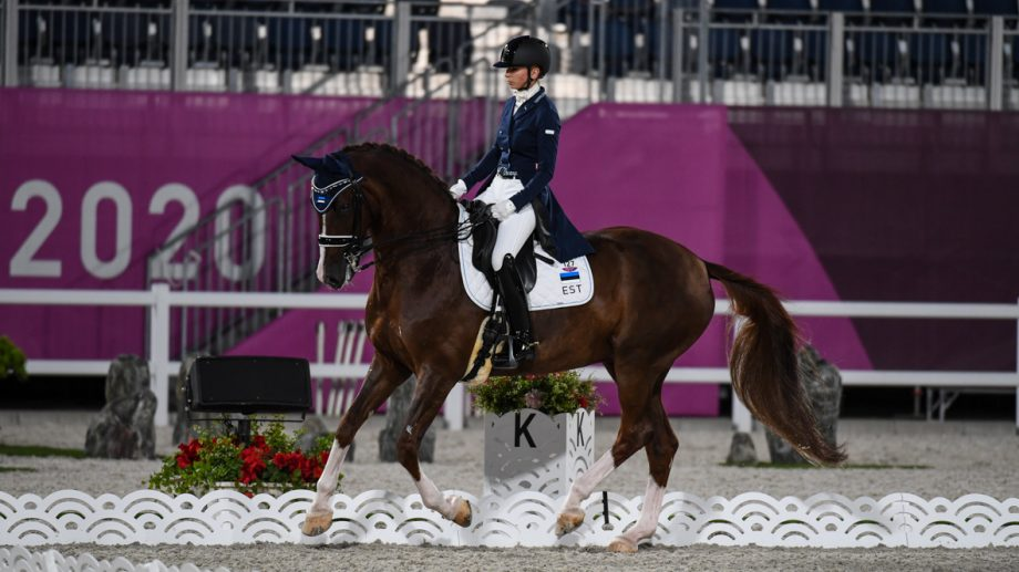 Dina Ellermann and Donna Anna at the Tokyo Olympics.