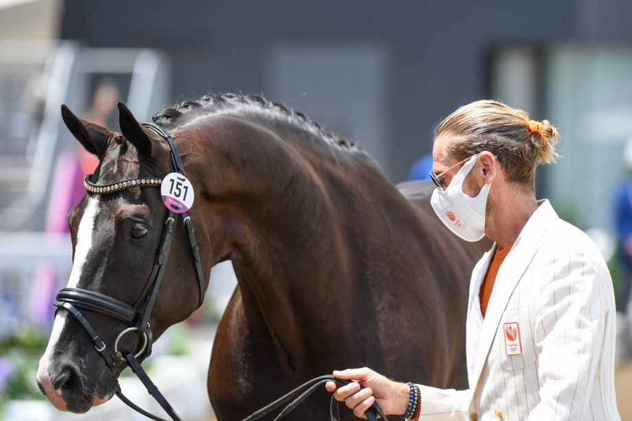 Tokyo Olympics dressage trot-up pictures: Edward Gal and Total US