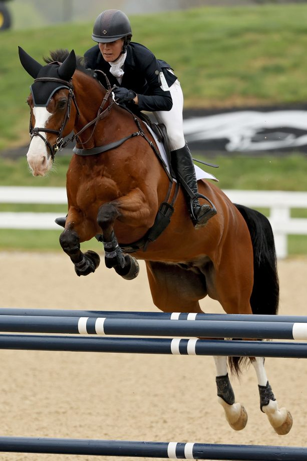 US event rider Annie Goodwin, pictured competing at Kentucky Three-Day, dies