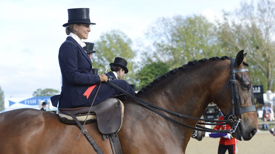 Danielle Heath, pictured at a previous Royal Windsor Horse Show, will miss the 2021 show due to illness