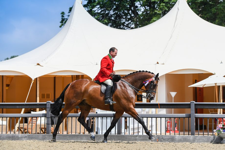 Robert Walker riding View Point in Class 41, winner of the Hunter Championships during the Royal Windsor Horse Show, held in the grounds of Windsor Castle in Windsor in Berkshire in the UK between 1st - 4th July 2021