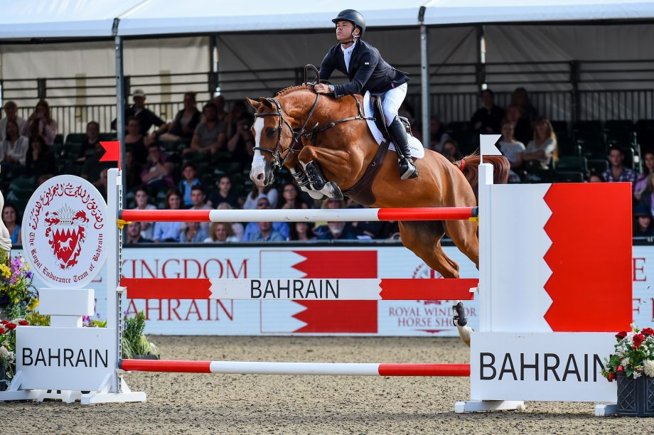 Kent Farrington and Creedance on their way to winning The King's Cup at Royal Windsor Horse Show 2021