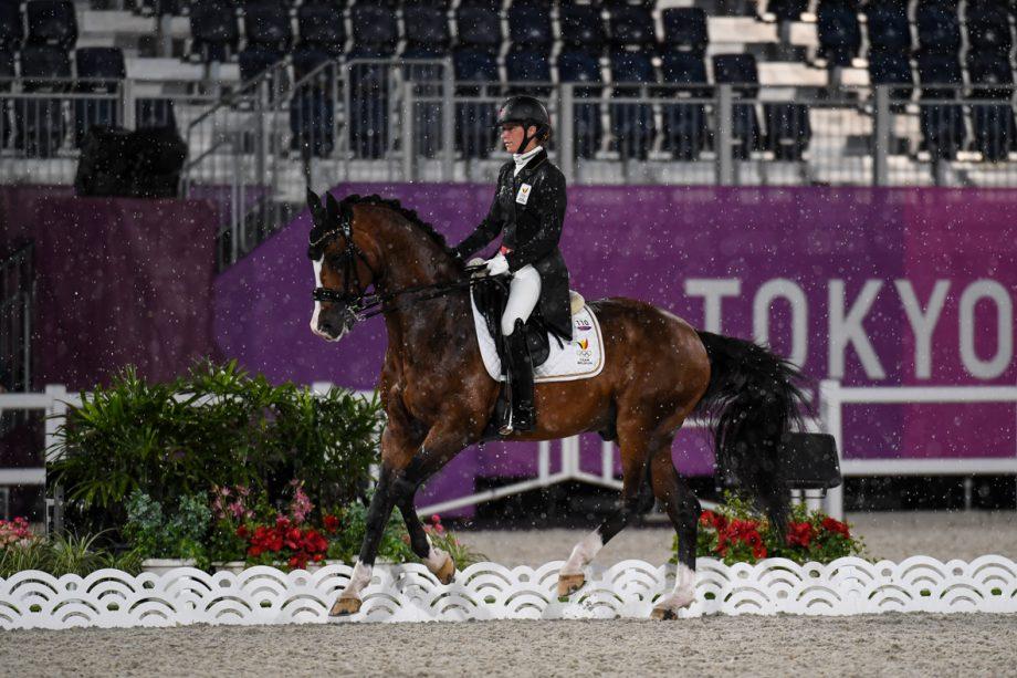 Larissa Pauluis and Flambeau at the Tokyo Olympics