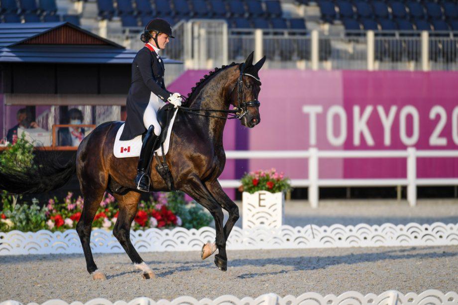 Lindsay Kellock and Sebastien at the Tokyo Olympics