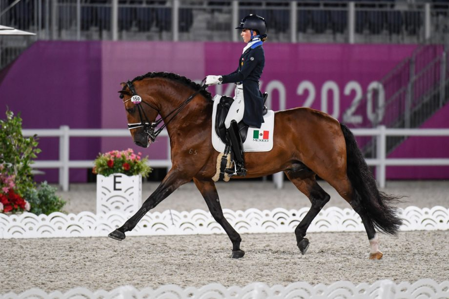 Martha Fernanda del Valle Quirarte and Beduino Lam at the Tokyo Olympics