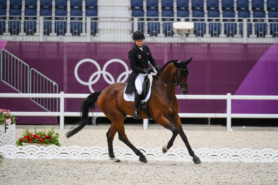 Olympic eventing dressage: Michael Jung and Chipmunk FRH