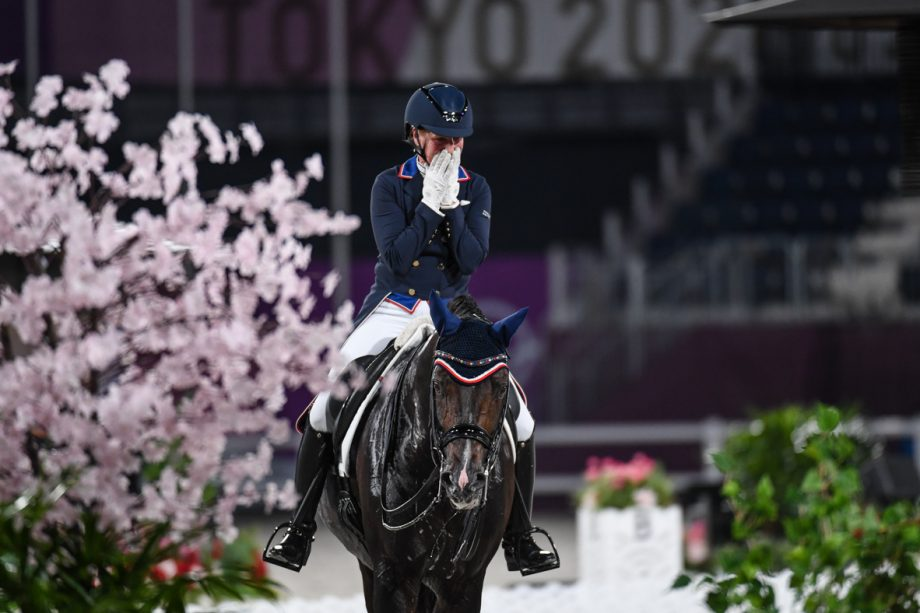 US dressage rider Sabine Schut-Kery and Sanceo compete in the Tokyo Olympics dressage