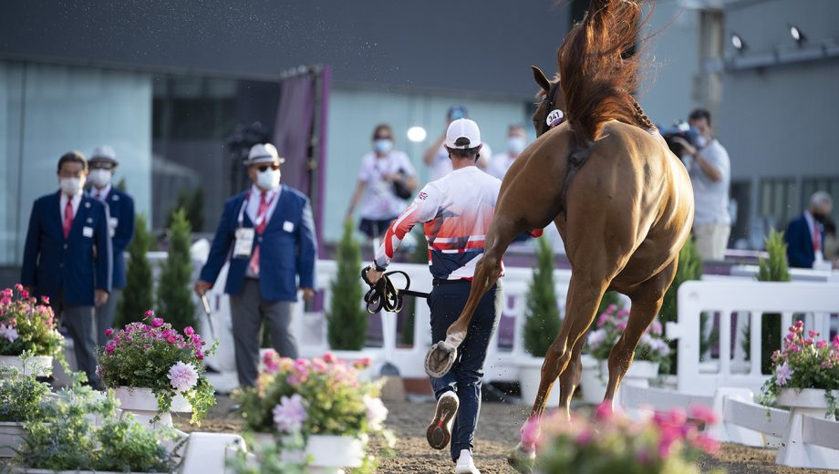 Olympic showjumping trot-up - ben maher explosion w