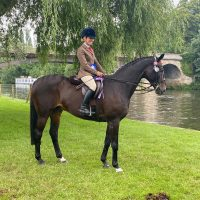 Sarah Gwilliam and Happy Times at the 2021 Royal Windsor Horse Show