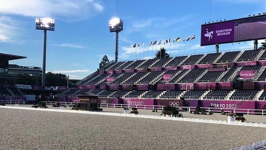 The equestrian arena at the Tokyo Olympic Games.
