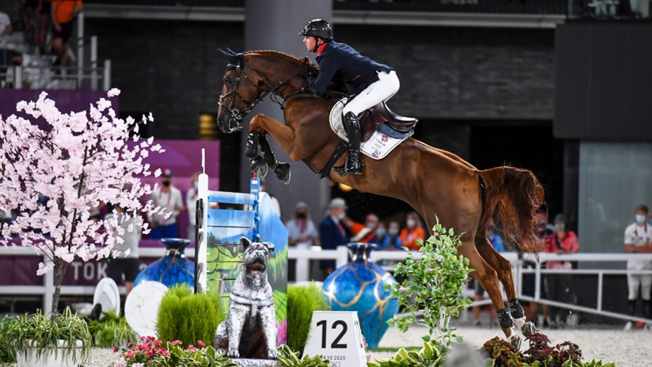 Ben Maher riding Explosion W to win gold in the Olympic showjumping individual final