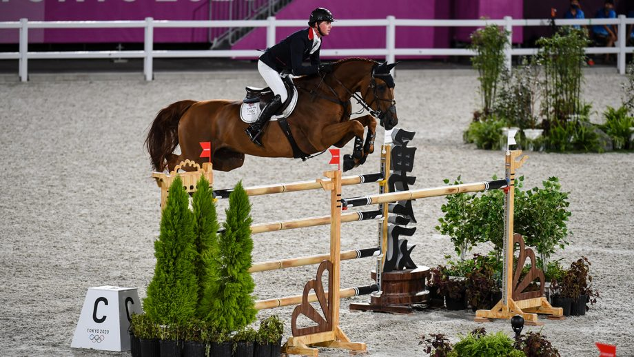 Ben Maher riding Explosion W in the Olympic team showjumping qualifier at the Tokyo 2020 Olympic Games