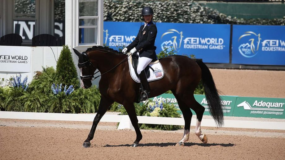 Roxanne Trunnell - Paralympic dressage rider - on Dolton