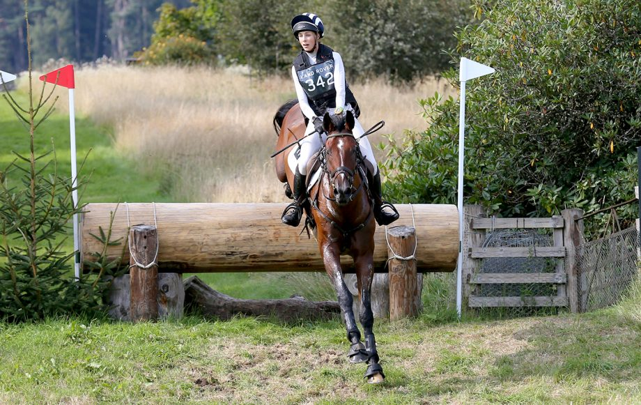Edie Campbell and Fireball F take on the Blair Castle Horse Trials cross-country course