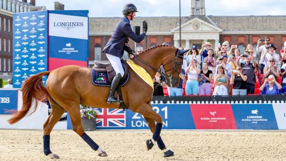Ben Maher and Explosion delighted the crowds by parading during the London leg of the LGCT
