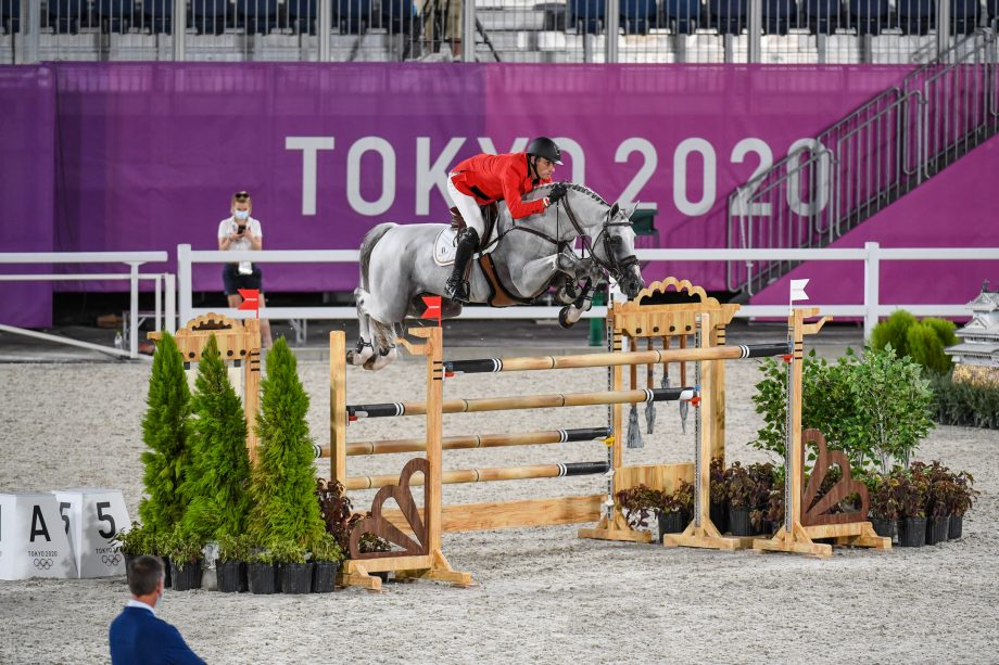 Olympic team showjumping qualifier: Gregory Wathelet and Nevados S