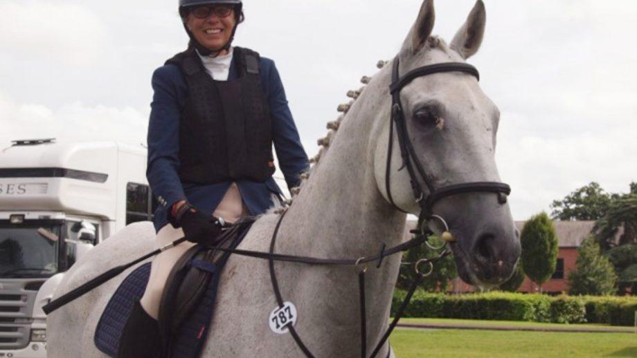 Sarah Ashley and her ex-racehorse Fair Chance