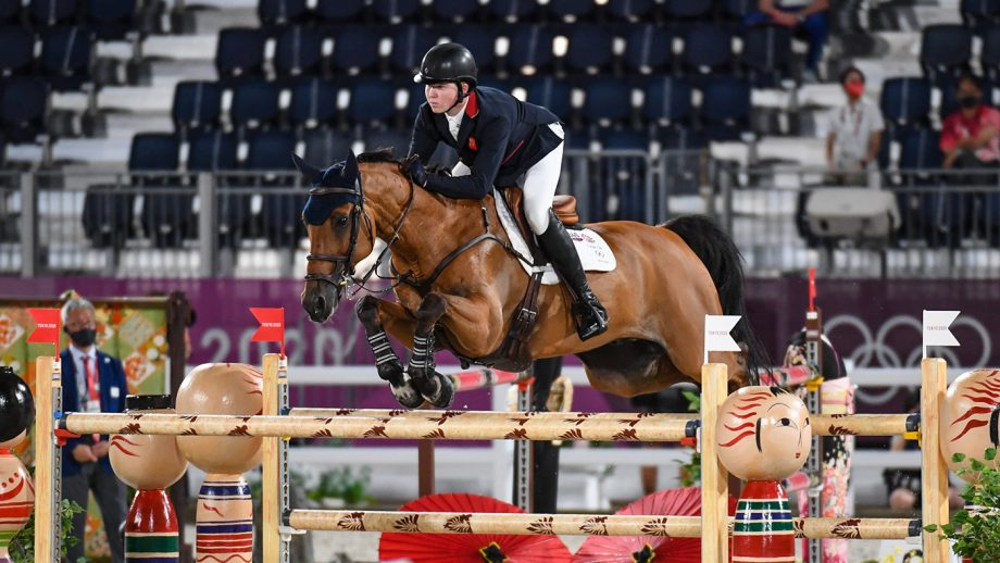 Harry Charles riding Romeo 88 in the Olympic team showjumping final at the Tokyo 2020 Olympic Games