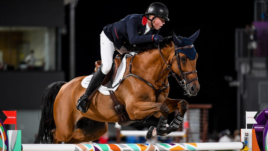 Harry Charles riding Romeo 88 in the Olympic showjumping individual final at Tokyo 2020 Olympic Games