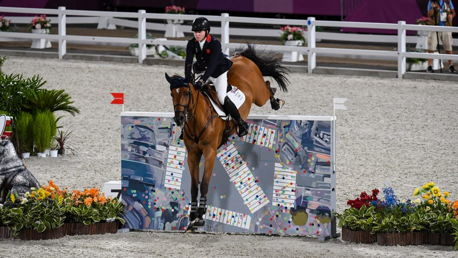 Harry Charles riding Romeo 88 in the Olympic team showjumping qualifier at the Tokyo 2020 Olympic Games