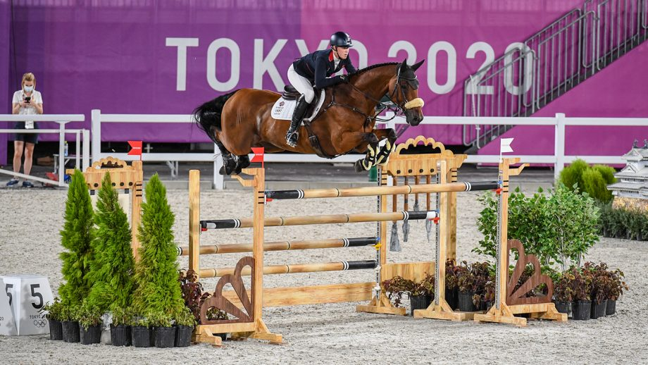 Holly Smith riding Denver in the Olympic team showjumping qualifier at the Tokyo 2020 Olympic Games