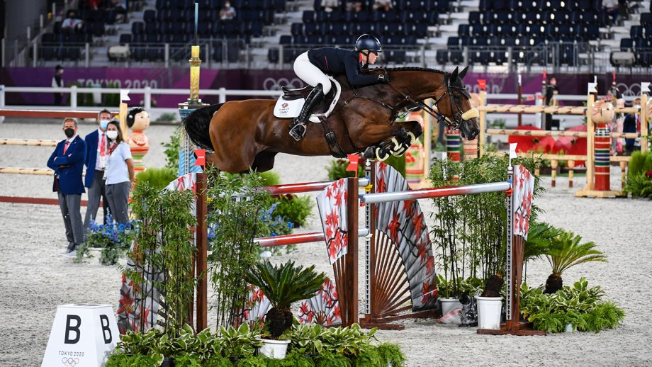 Holly Sith riding Denver in the Olympic team showjumping final at the Tokyo 2020 Olympic Games