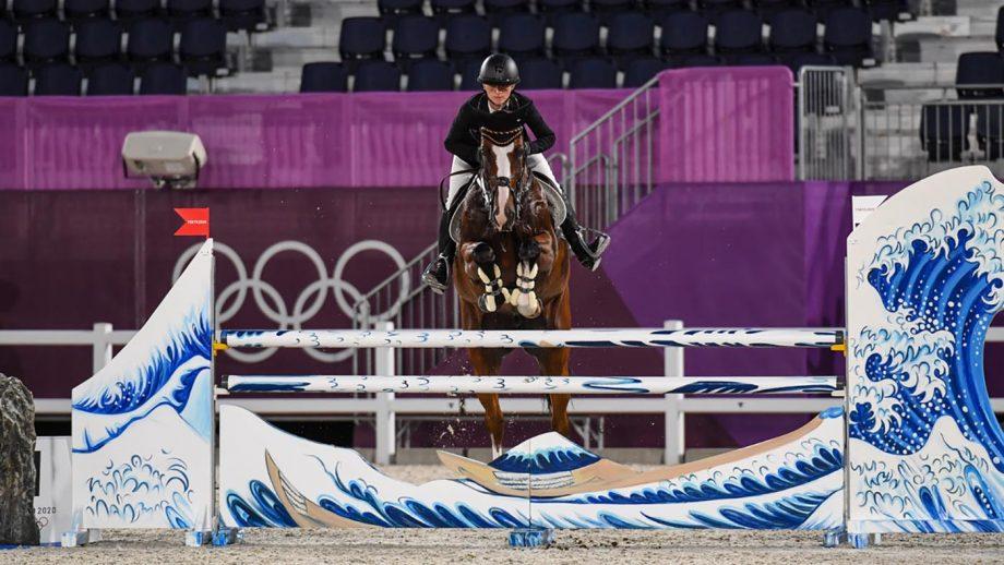 Olympic eventing showjumping Julia krajewski at the Tokyo Olympic Games