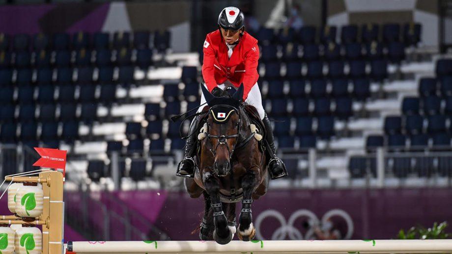 Kazuma Tomoto Vinci De La Vigne Japan's Kazuma Tomoto finishes in individual fourth place in the Tokyo 2020 Olympic Games eventing