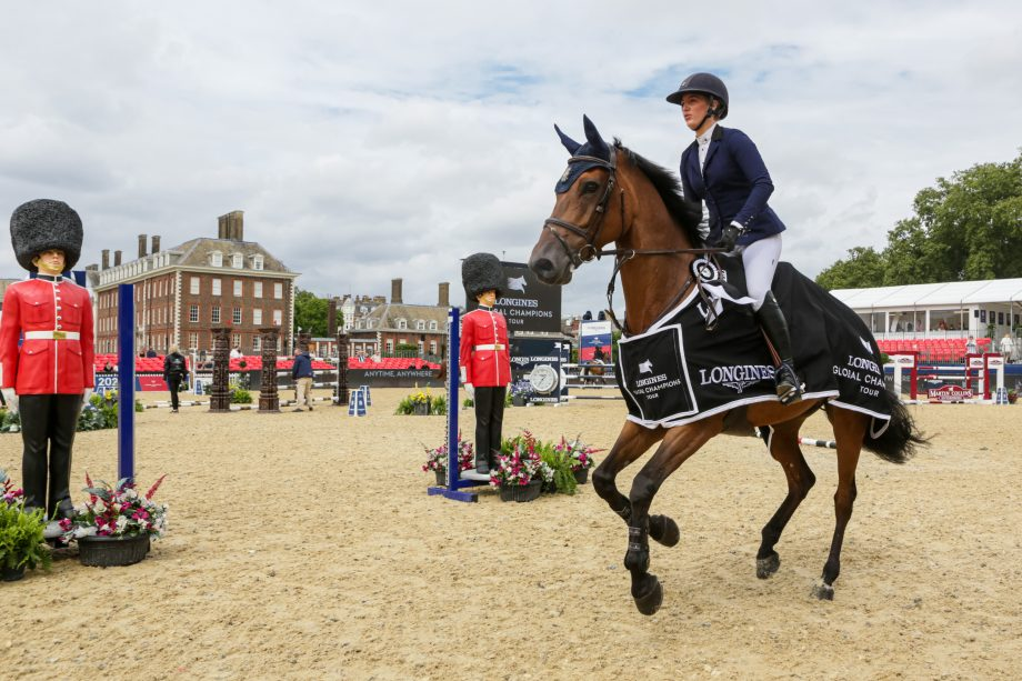 Lily Attwood wins the two-star class at the Longines Global Champions Tour of London