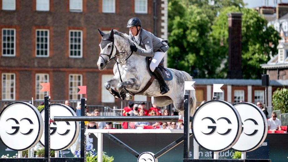 Ludget Beerbaum riding Mila at the London leg of the Global Champions Tour