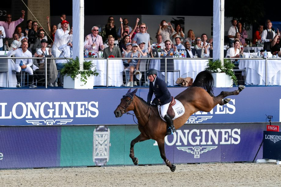 John Whitaker and Unick Du Francport finishing second in the grand prix at the London GCT