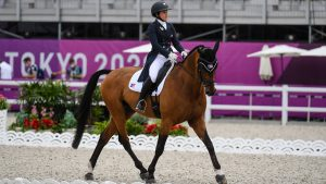 Lauren Billys and Castle Larchfield Purdy at the Tokyo Olympics