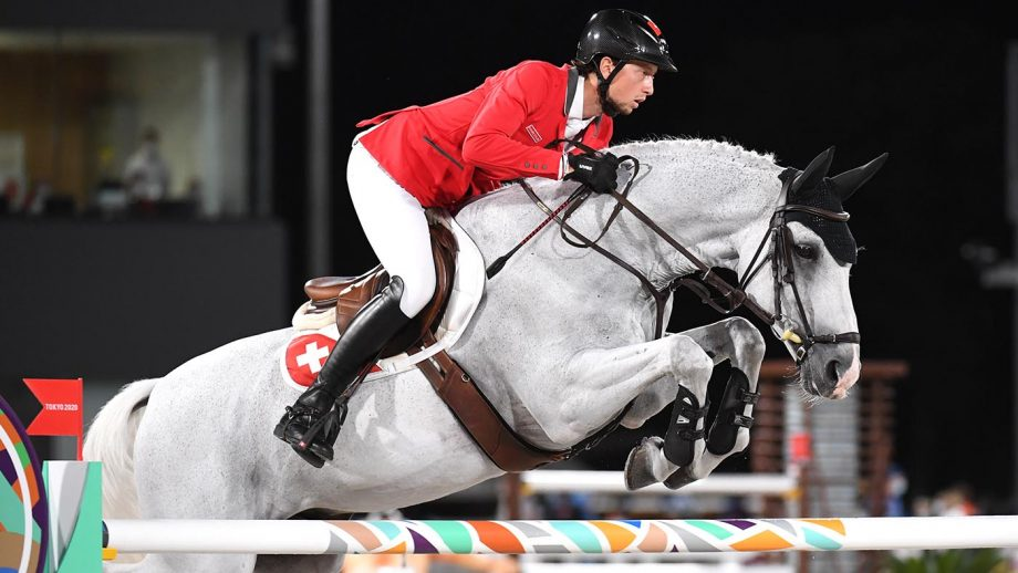 Martin Fuch riding Clooney 51 at the Tokyo Olympics