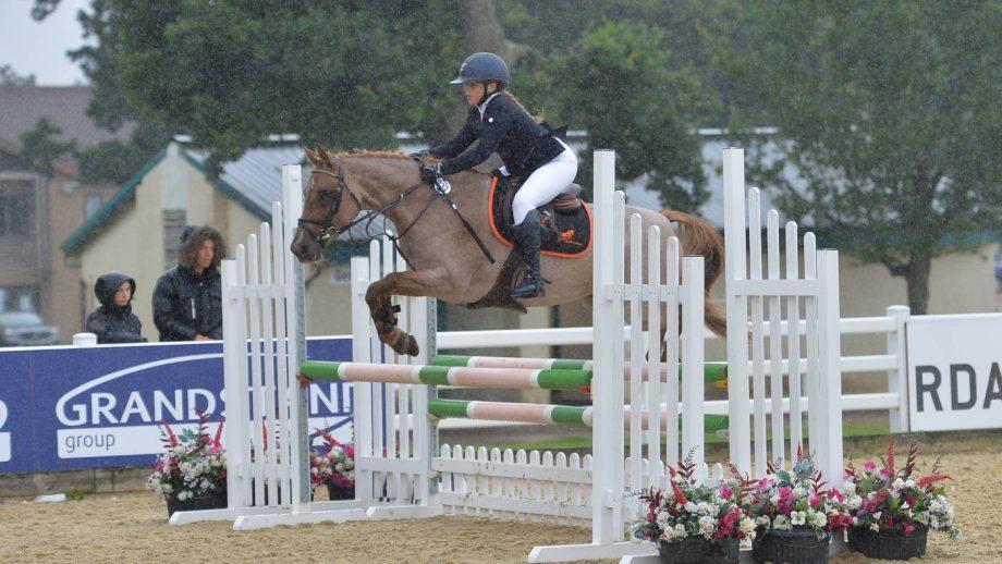 British Showjumping national championships pony bronze league final Sophia Hogan.
