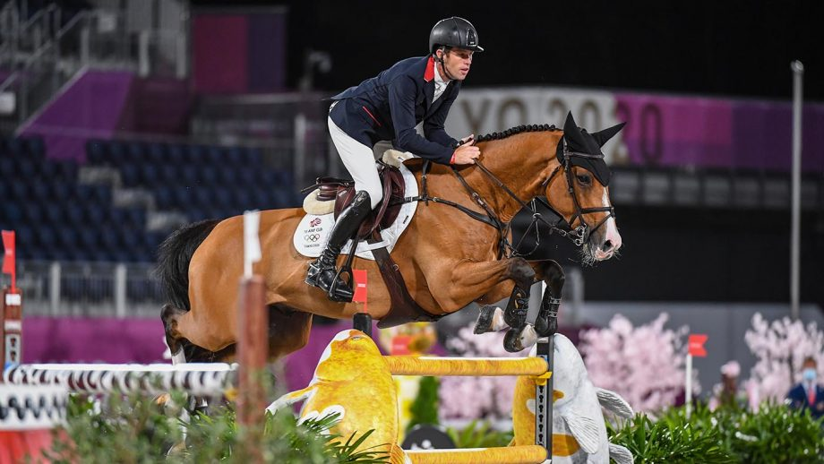 Scott Brash riding Jefferson in the Olympic showjumping individual qualifier at the Tokyo 2020 Olympic Games