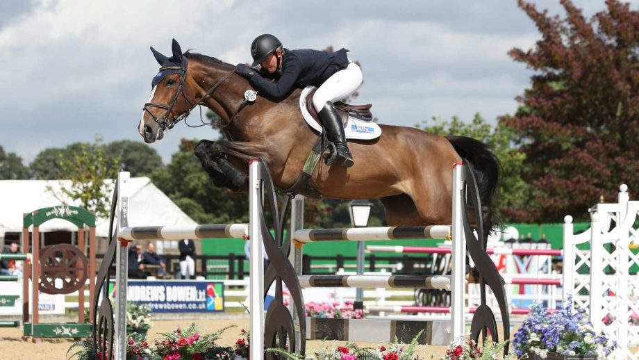 Lucy Townley and Billy Nikon win the Foxhunter masters at the British Showjumping national championships
