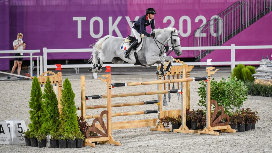 Simon Delestre riding Berlux Z in the Olympic showjumping team qualifier at the Tokyo 2020 Olympic Games