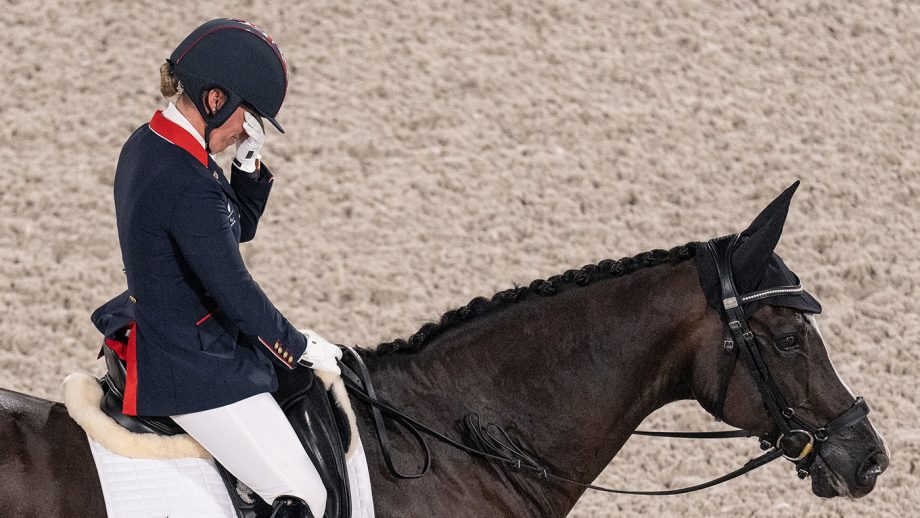 Sophie Wells GBR riding Don Cara M competing in the Equestrian Individual Test Grade V at the Equestrian Park. Tokyo 2020 Paralympic Games, Tokyo, Japan, Thursday 26 August 2021. Photo: OIS/Joe Toth. Handout image supplied by OIS/IOC