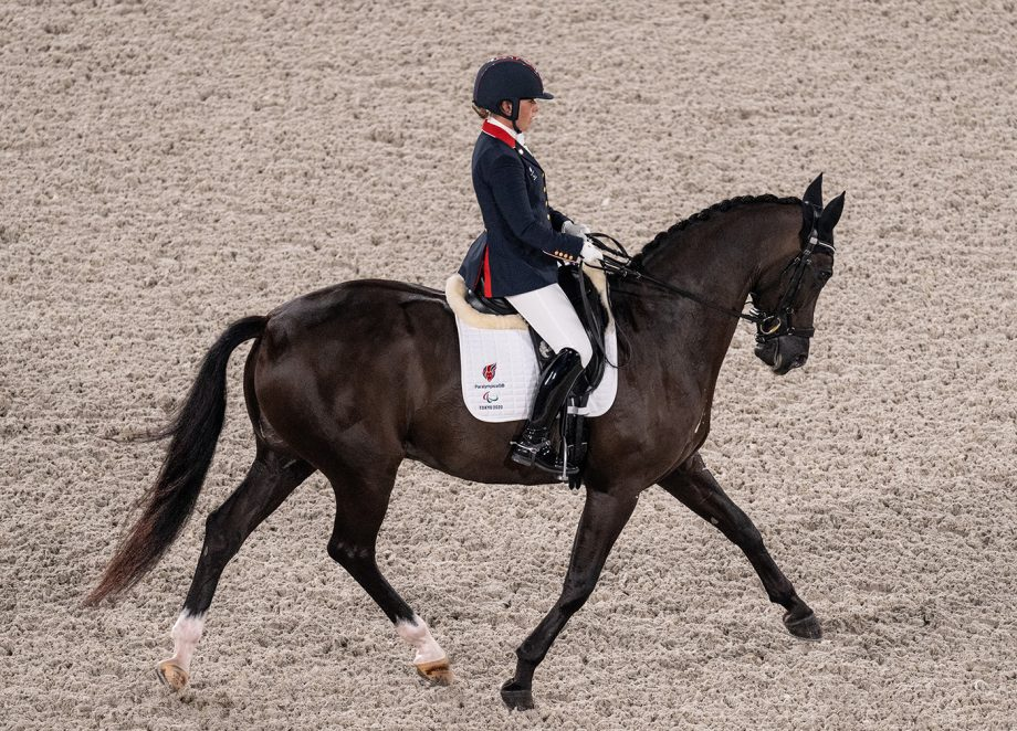 Sophie Wells and Don Cara M competing at the Tokyo Paralympic Games