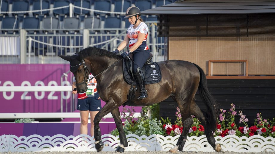 Tokyo Paralympic dressage: Natasha Baker in action on day two