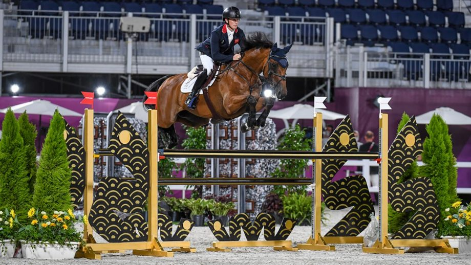 Tom McEwen and Toledo De Kerser jump to win the Olympic eventing individual silver medal in the Olympic eventing at Tokyo 2020