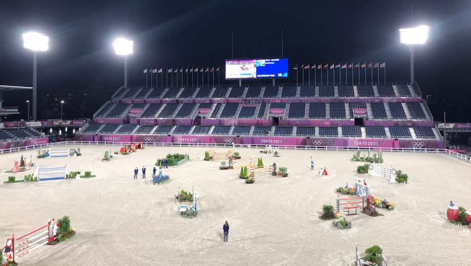 Olympic showjumping team course at Tokyo Games