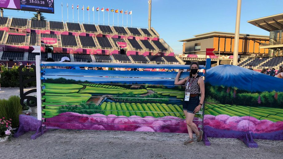 H&H's Polly Bryan on the Olympic showjumping course