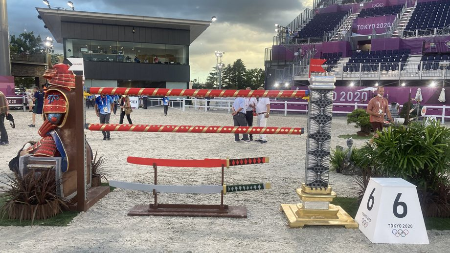 Olympic showjumping team course
