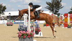 Holly Cole and Caramel III win the pony British novice final at the BS National Championships 2021