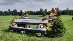 Blenheim Horse Trials cross-country riders react