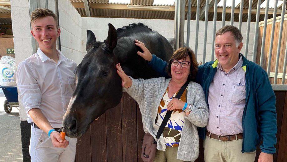 Gijs Van Vooren with his parents at Somerford