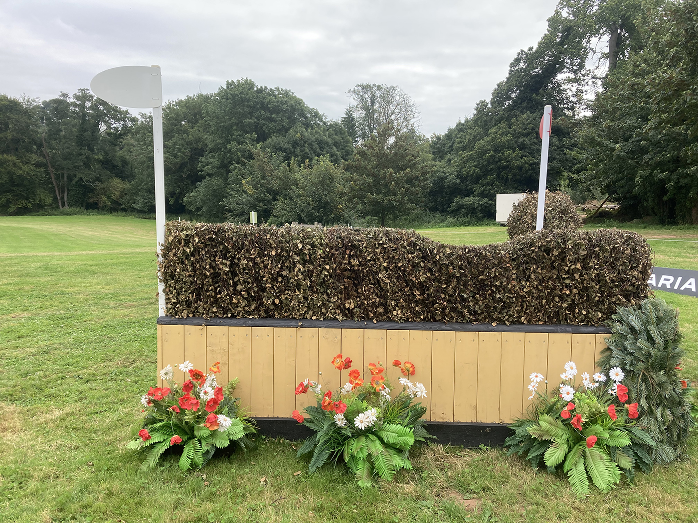 Bicton Horse Trials cross-country course: five-star fence 16c alternative